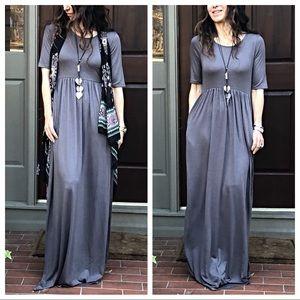 Dresses & Skirts - ✨LAST ONE ✨Grey long side pocket maxi dress